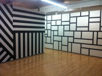 Sol Lewitt wall paintings - black & white